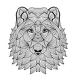 hand drawn decorative wolf vector image