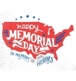 Happy Memorial Day hand-lettering greeting card vector image vector image