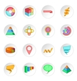 Infographic design icons set vector image vector image