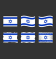 israel flag set official vector image vector image