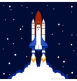 Launch concept space rocket background vector image