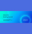 long banner template abstract blue vector image
