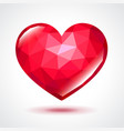 low poly heart isolated vector image vector image