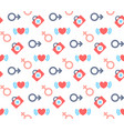 male female symbols heart kit first aid icon vector image