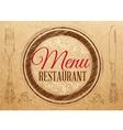 Menu Restaurant Kraft vector image vector image