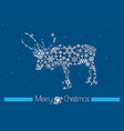 merry christmas background with rain deer vector image vector image