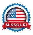 Missouri and USA flag badge vector image vector image