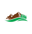 Mountain hill travel nature logo