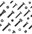 Nut and bolt head icons seamless vector image vector image