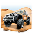 off road vehicle suv extreme desert race vector image