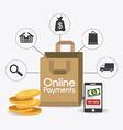 Online payments design vector image vector image