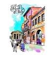 original digital watercolor drawing of Rome street vector image vector image