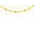 pattern festive golden flags and confetti vector image
