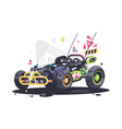 racing car buggy vector image vector image