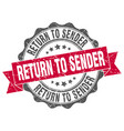 return to sender stamp sign seal vector image