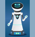 robotic character with friendly face humanoid vector image