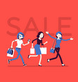 sale season in the store vector image vector image