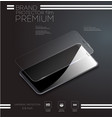 screen protector glass vector image vector image