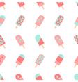 Seamless Ice Cream Pattern vector image vector image