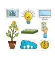set business crowdfunding strategy to company vector image vector image