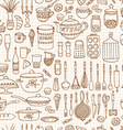 set hand drawn cookware vector image