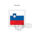 Slovenia Flag Postage Stamp vector image vector image