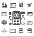 smart money and mobile banking icons set vector image vector image