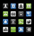 social web icons - gelbox series vector image