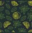 tea pattern-05 vector image