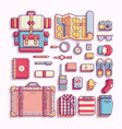 travelling and adventure equipment flat vector image vector image