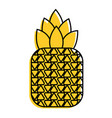 tropical fruit pineapple fresh ripe icon vector image vector image
