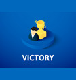 victory isometric icon isolated on color vector image vector image