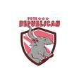 Vote Republican Elephant Mascot Shield Cartoon vector image vector image