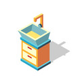 washstand isometric vector image