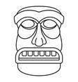 wood tiki idol icon outline style vector image vector image
