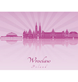 Wroclaw skyline in purple radiant orchid vector image vector image
