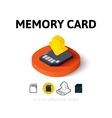 Memory card icon in different style vector image