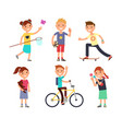 playing children with toys happy kids in vector image