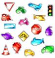 traffic icons vector image