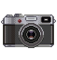 Pixel retro photo camera isolated vector image