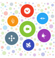 7 right icons vector image vector image
