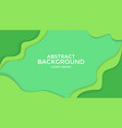 abstract background green color paper cut vector image vector image