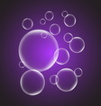 Abstract background with violet glossy bubble vector image
