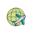 airplane icon image vector image vector image