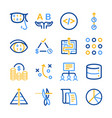 analytics icons set vector image