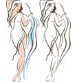 aquarius woman outline drawing vector image vector image