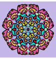 background with bright round mandala pattern vector image vector image