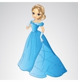 Beautiful Cinderella In Blue Dress vector image vector image