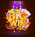 big win casino collage game banner design vector image vector image