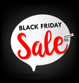 black friday web tag banner promotion sale vector image vector image